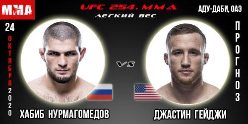 UFC 254. Прогноз на бой Хабиб Нурмагомедов - Гейдж